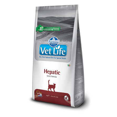 Купить Farmina Vet Life Cat Hepatic Сухой лечебный корм для взрослых кошек при заболеваниях печени, 400 гр