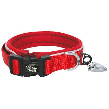 Купить Dezzie Ошейник для собак средний, ширина 2 см, длина 38-45 см, красный