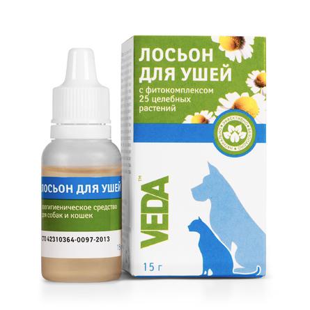 Veda Лосьон для чистки ушей, 15 гр
