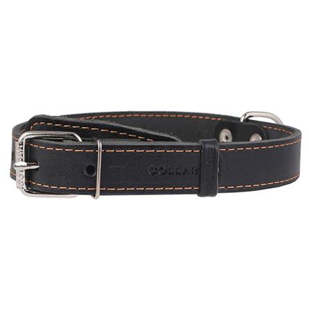 Collar Ошейник для собак одинарный, ширина 2,5 см, длина 38-50 см, черный фото