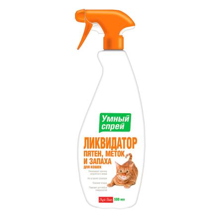 Умный Спрей Ликвидатор пятен, меток и запаха для кошек, 500 мл