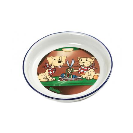 Flamingo Cat & Dog Миска для животных, с рисунком, керамика