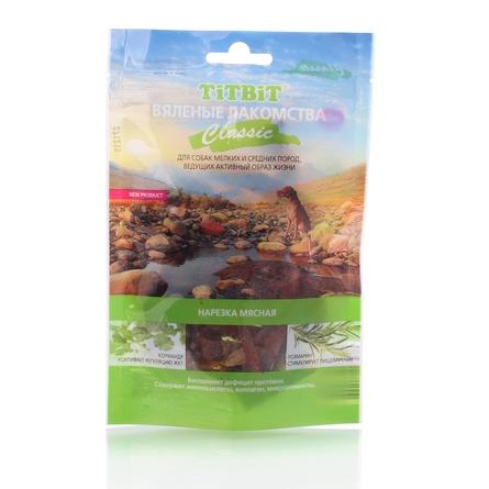 Купить TiTBiT Вяленые лакомства Classic Нарезка мясная для взрослых собак мелких и средних пород (из говядины), 50 гр