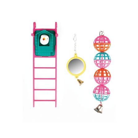 Flamingo игрушка для птиц, набор