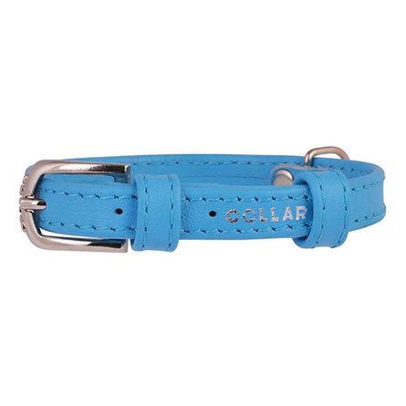 Купить Collar Ошейник для собак, Collar Glamour , без украшений, ширина 1, 2 см, длина 21-29 см, синий
