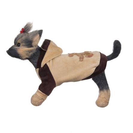 DogModa Куртка Мишка для собак, длина спины 24 см, обхват шеи 25 см, обхват груди 39 см  - купить со скидкой