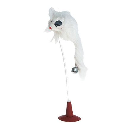 Flamingo Игрушка для кошек мышь со звонком на присоске