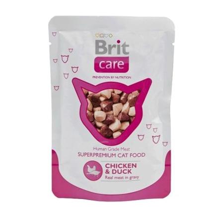 Купить Brit Care Cat Chicken&Duck Кусочки филе в соусе для взрослых кошек (с курицей и уткой), 80 гр