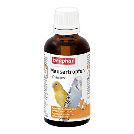 Beaphar Mausertropfen Витамины для птиц в период линьки, 50 мл