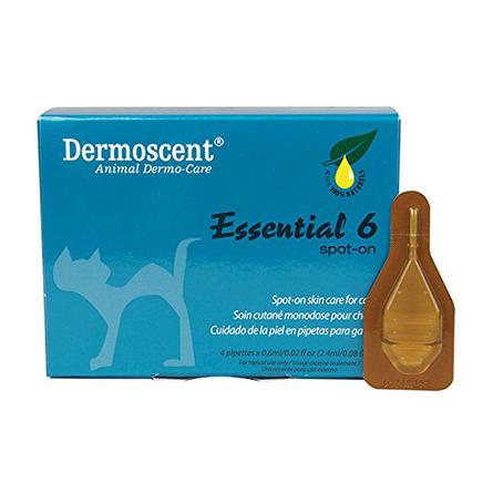 Dermoscent Essential 6 Капли для комплексного ухода за кожей кошек, 4 пипетки фото