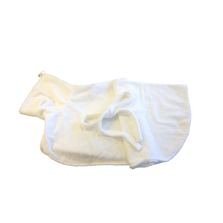 CLP Халатик для домашних животных, длина спины 60 см, высота 40 см, белый