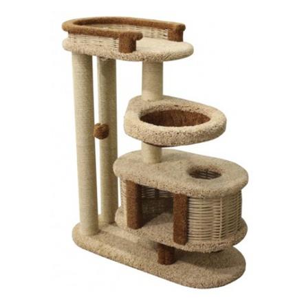 Купить Пушок Когтеточка-комплекс Брунетка для кошек, сезаль