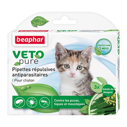 Купить Beaphar Veto Pure Био Капли от блох и клещей для котят, 3 пипетки