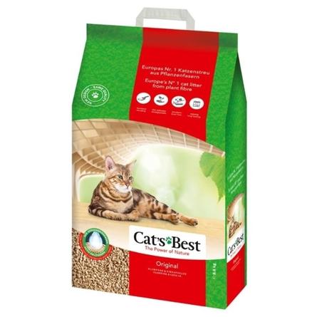 Купить Cat's Best Original Древесный комкующийся наполнитель для кошек, 17, 2 кг, Cat's Best