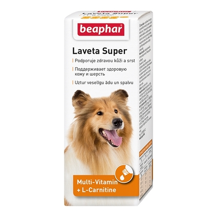 Beaphar Laveta Super Кормовая добавка для взрослых собак для улучшения состояния шерсти, 50 мл
