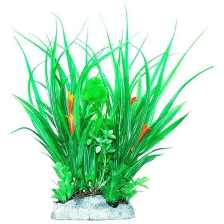 УЮТ Растение аквариумное Хедизариум зеленый с бутонами, 24 см