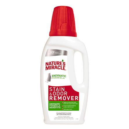 Nature's Miracle Cat Stain & Odor Remover Уничтожитель пятен и запаха для кошек, 946 мл