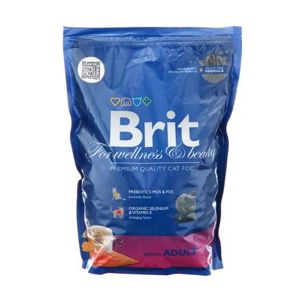 Купить Brit Premium Cat Adult Сухой корм для взрослых кошек (с лососем), 800 гр