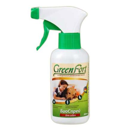 Купить GreenFort БИО спрей от блох и клещей для собак, 200 мл, Green Fort