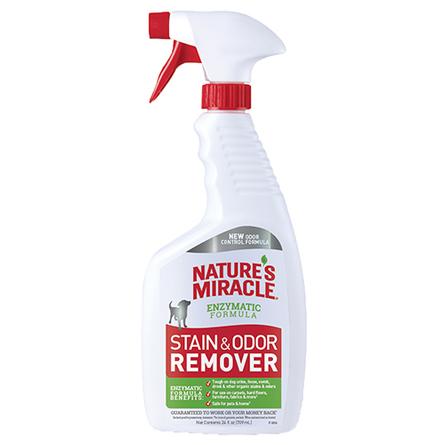 Nature's Miracle Dog Stain & Odor Remover Спрей-уничтожитель пятен и запаха для собак, 709 мл