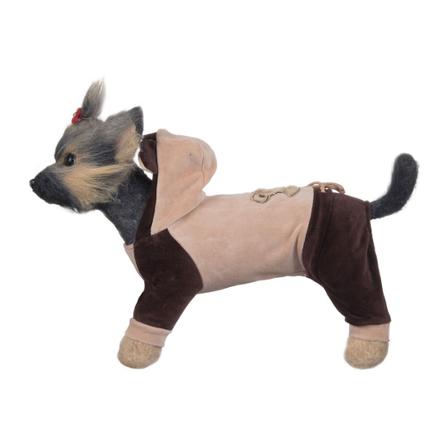 Купить DogModa Комбинезон велюровый Мишка для собак, длина спины 20 см, обхват шеи 21 см, обхват груди 33 см