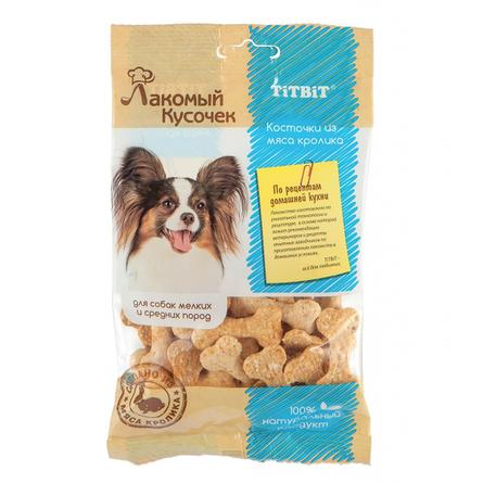 Купить TITBIT Лакомый кусочек Косточки для взрослых собак всех пород (из мяса кролика), 80 гр