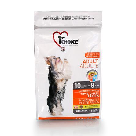 1st Choice Adult Toy&Small Breeds Cухой корм для взрослых собак декоративных и мелких пород (с курицей), 1 кг фото