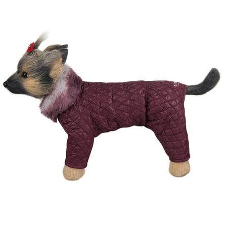 Купить DogModa Комбинезон стеганый, длина спины 20 см, обхват груди 33 см, обхват шеи 21 см, девочка