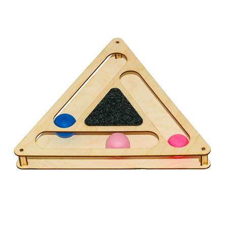 GoSi Треугольник Игровой комплекс для кошек с шариками и когтеточкой