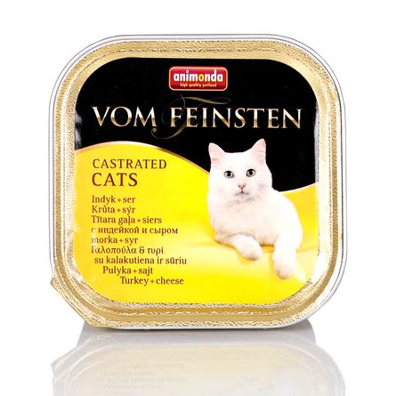 Купить Animonda Vom Feinsten Castrated Cats Паштет для взрослых стерилизованных кошек и кастрированных котов (с индейкой и сыром), 100 гр