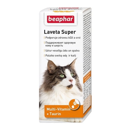 Beaphar Laveta Super Кормовая добавка для кошек для кожи и шерсти, 50 мл