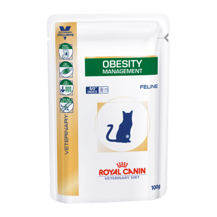 Купить Royal Canin Obesity Management Влажный лечебный корм для кошек при проблемах с весом или при заболевании диабетом, 100 гр