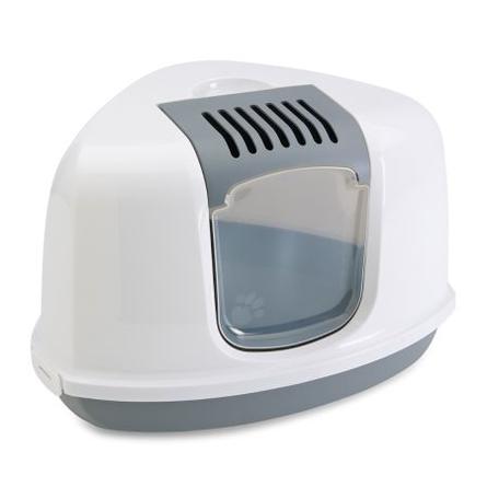 Купить Savic Nestor Corner Угловой туалет-домик для кошек, серый