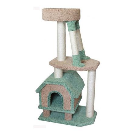 Купить Пушок Когтеточка-комплекс Конура для буйных кошек для кошек, сезаль