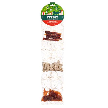 Купить TiTBiT Набор №3 Набор лакомств для взрослых собак (утиные грудки, твистер с телятиной, косточки из мяса кролика), 150 гр