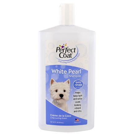 8in1 Perfect Coat White Pearl Шампунь-кондиционер для собак для белой шерсти, 947 мл фото