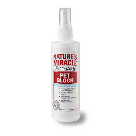 Купить Nature's Miracle JFC Pet Block Отпугивающее средство для кошек, 236 мл, Nature's Miracle