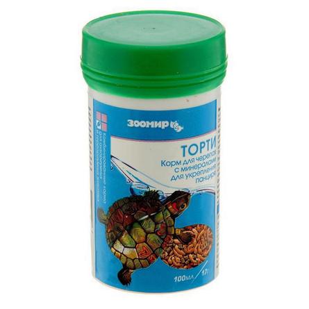 Торти Универсальный корм для декоративных аквариумных и террариумных животных, смесь, 100 мл