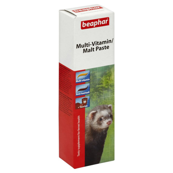 Beaphar Multi-Vitamin/Malt Paste for Ferrets мальт паста для хорьков