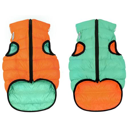 Collar AiryVest Lumi Куртка двухсторонняя светящаяся для собак, салатово-оранжевая фото