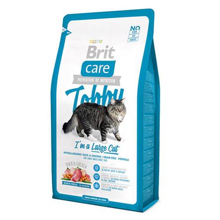 Купить Brit Care Cat Tobby Large Cat Сухой корм для взрослых кошек крупных пород (с уткой и курицей), 400 гр