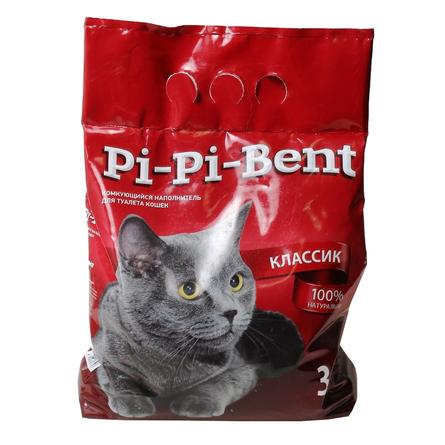 Купить Pi-Pi Bent Комкующийся глиняный наполнитель для кошек, 3 кг