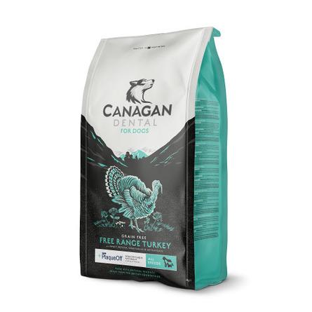 Купить Canagan Grain Free Free Range Turkey Dental Беззерновой сухой корм для собак и щенков всех пород для гигиены полости рта (с индейкой), 6 кг