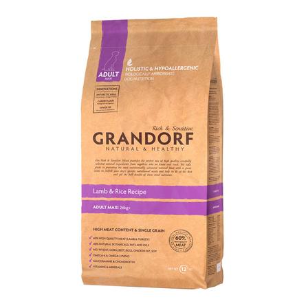 Купить Grandorf Lamb & Rice Adult Maxi Сухой корм для взрослых собак крупных пород (с ягненком и рисом), 12 кг