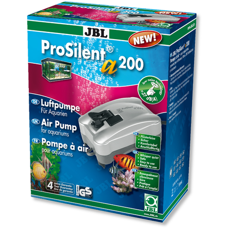 JBL ProSilent a200 Компрессор для пресноводного и морского аквариума от 50 до 300 л