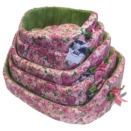 Купить CLP Розы №1 Лежанка овальная для собак и кошек, хлопок