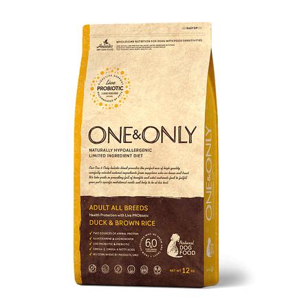 One&Only Duck & Rice Adult All Breeds сухой корм для взрослых собак всех пород (утка с рисом), 12 кг фото