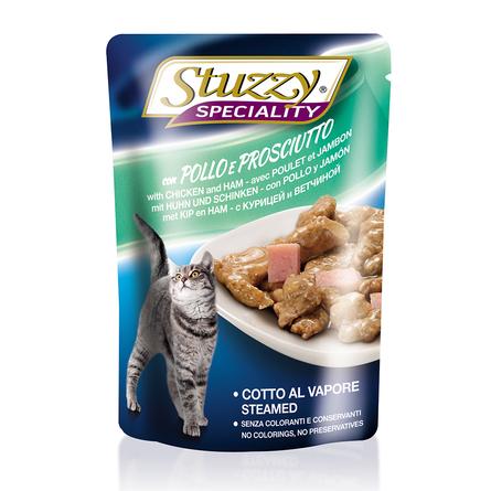 Stuzzy Speciality Кусочки филе в соусе для взрослых кошек (с курицей и ветчиной), 100 гр фото