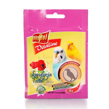 Купить Vitapol VITALINE форма и сила для птиц, 20 гр