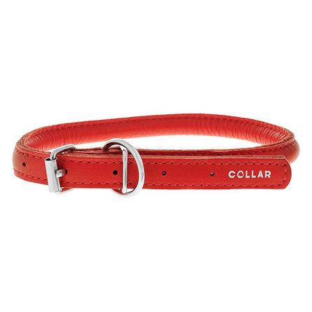 Купить Collar Ошейник для собак Collar Glamour , круглый, диаметр 1 см, длина 39-47 см, красный